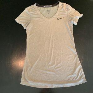 Nike Pro women's grey t shirt. Size small